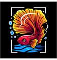 betta fish mascot logo design vector image