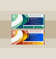 blue green and gold horizontal business banner vector image vector image