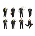 businessman character office working man vector image vector image