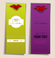 Card notes with ribbons vector image vector image