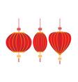 chinese decorative lantern isolated white vector image
