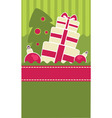 Christmas gift banner vector image vector image