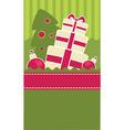 Christmas gift banner vector image