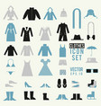 clothing and shoes set vector image