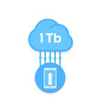 cloud technology upload to server with smartphone vector image vector image