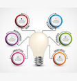 creative 3d light bulb infographics template vector image