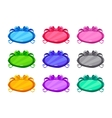 Cute colorful cartoon long oval buttons set vector image vector image