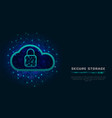 cyber security concept cloud data protection vector image vector image