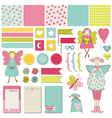 Design Elements - Baby Birthday Party Set vector image