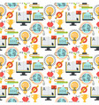 distant learning seamless pattern background vector image vector image