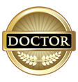 Doctor Gold Award vector image vector image