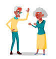 elderly couple grandpa with grandmother vector image vector image