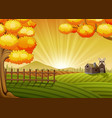 farm cartoon landscape vector image vector image