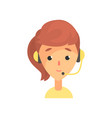 female call center worker online technical vector image