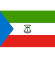 Flag of Equatorial Guinea vector image vector image