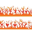 Flames on a white background - continuous curb vector image