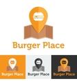 flat fast food cafe logo set vector image vector image