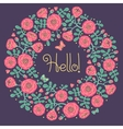 floral card with wreath from flowers vector image vector image