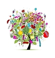 Floral tree for your design vector image vector image