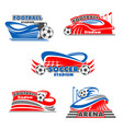 football stadium and soccer sport arena icons vector image