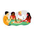 friendship break dinner communication meeting vector image