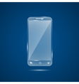 glass mobile phone vector image