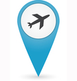 GPS marker with airport icon vector image vector image