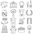 Graduation Linear Icons Set vector image vector image