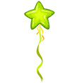 Green balloon with star shape vector image vector image