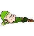 Green Elf Sleeping vector image vector image