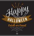 happy halloween logo sign vector image vector image