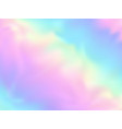 holographic paper background in neon colors vector image