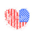 independence day in usa abstract heart vector image