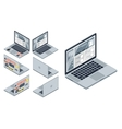 isometric laptop vector image vector image