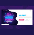 landing page mock up website home page vector image