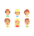 male and female customers support phone operators vector image