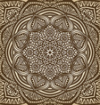 mandala ornament brown circular pattern background vector image vector image