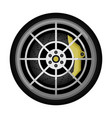 modern car titanium rim icon vector image vector image