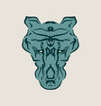 ornamental animal tattoo vector image vector image