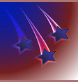patriotic usa flag colors background with three vector image vector image