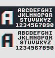 pixel video game font retro 8-bit letters