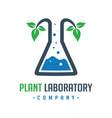 plant research laboratory logo design vector image