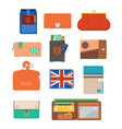 purse wallet with money shopping buy business vector image