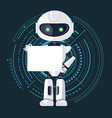 robot and sheet of paper vector image