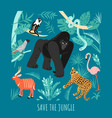 save jungle eco concept vector image