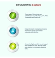 Set of colorful 3d buttons vector image vector image