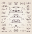 set of decorative classical swirls and vector image vector image