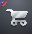 shopping basket icon symbol 3D style Trendy modern vector image vector image