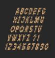 slanting stylish grunge alphabet letters vector image vector image
