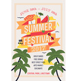 Summer Festival Poster vector image vector image